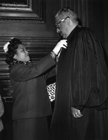 Thurgood Marshall Before His Swearing in at the Supreme Court