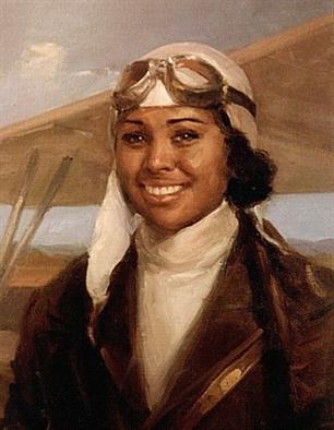 Bessie Coleman painting