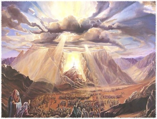 god-descends-on-mount-sinai