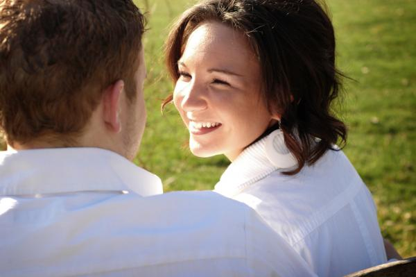 young couple having a great Conversation