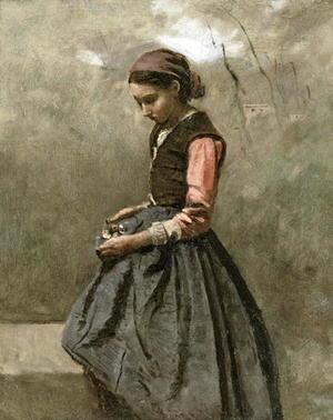 A-Pensive-Girl,-C.1865