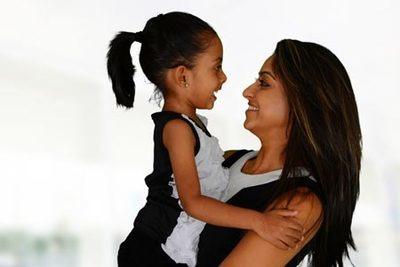 single indian woman adopts girl