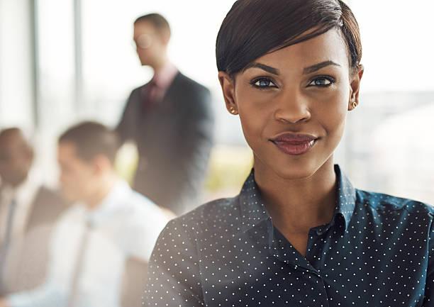 confident black career woman