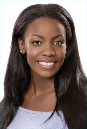 dark african american woman