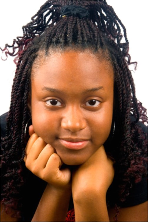 black teen with braids